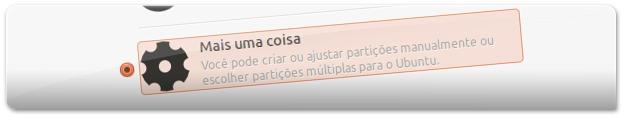 Escolha manualmente a localização do Ubuntu