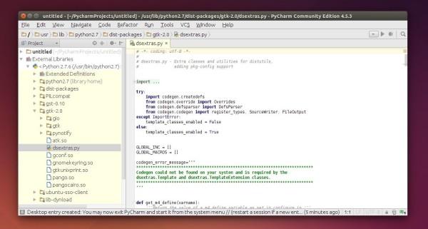PyCharm in Ubuntu