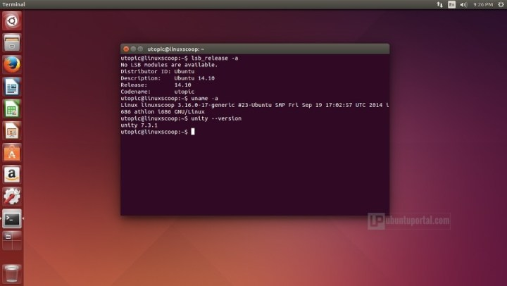 ubuntu 14.10 Kernel and Unity Version