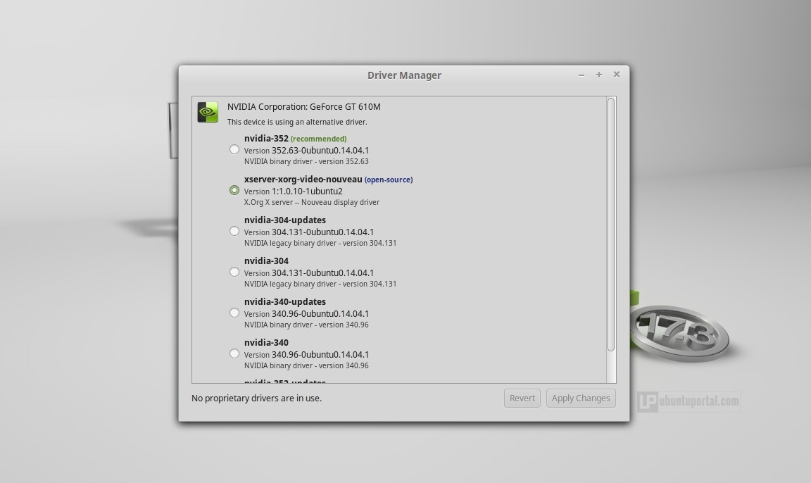 Linux Mint 17.3 Cinnamon - Driver Manager