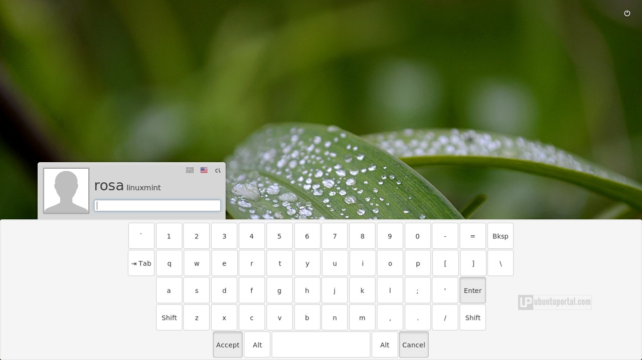 Linux Mint 17.3 Cinnamon - Virtual Keyboard