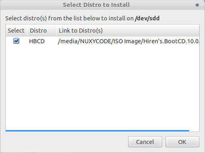 MultibootUSB - Select Distro to Install
