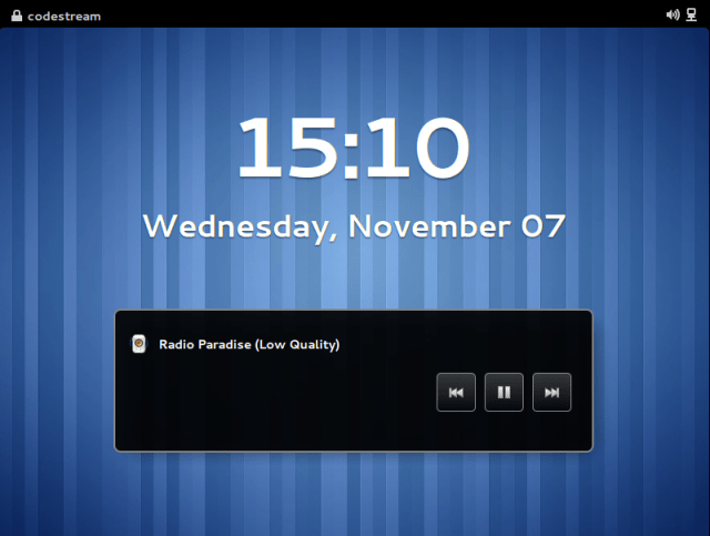 Show Gnome Shell 3.6 Notifications in the Lock Screen
