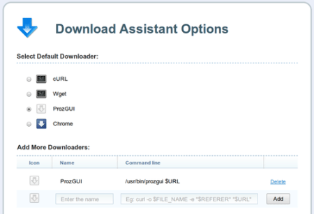 prozGui - Configure Download assistant