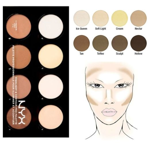 Image result for nyx contour palette