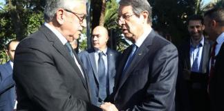 President Anastasiades and Mustafa Akinci meet over possible measures against coronavirus