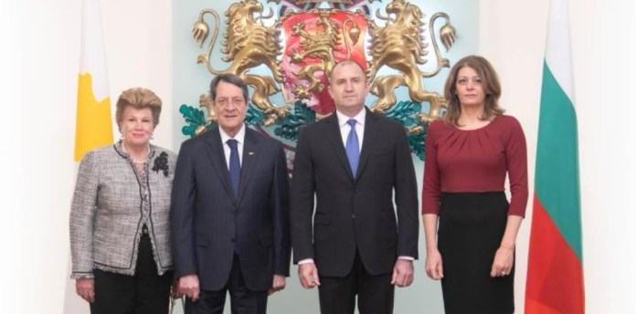 President of the Republic of Cyprus Nicos Anastasiades was officially welcomed on Tuesday in Sofia by President of Bulgaria Rumen Radev, during a ceremony in Alexander Nevsky square.