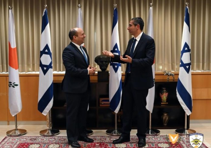 The current strategic environment and future security developments in the region, and their subsequent implications on their respective countries, were discussed on Tuesday by Cypriot Minister of Defence Savvas Angelides and Israeli Minister of Defence Naftali Bennet, during a meeting in the framework of Angelides' official visit to Israel.