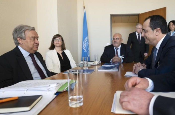 """Cyprus' Foreign Minister Nikos Christodoulides met on Monday with UN Secretary-General, Antonio Guterres, in Geneva, and discussed Turkey's unlawful activities in Cyprus' exclusive economic zone (EEZ), as well as developments in Varosha, the fenced-off part of Famagusta. Speaking after the meeting, Christodoulides also noted that Guterres is ready to move ahead with the process, aiming at a Cyprus settlement, right after April`s """"elections"""" in the Turkish-occupied part of the island."""