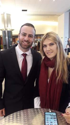 Kostandinos Giagkou and Eva Kaili