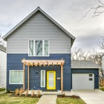 exterior view of a contemporary design new construction home