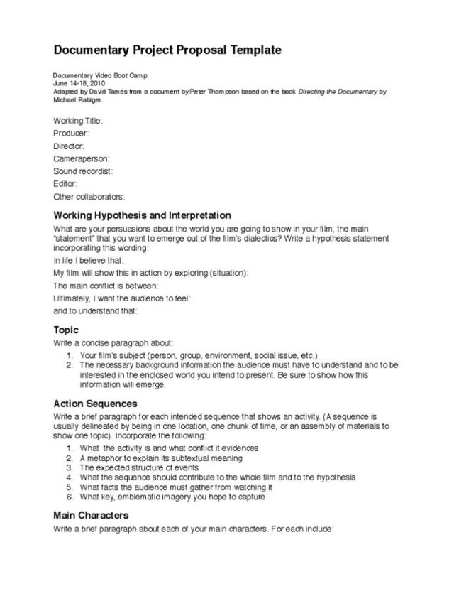 Mini Research Proposal Example