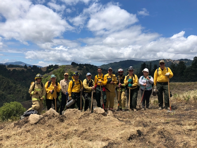 Participants in the Humboldt County PBA-led burn at Stansberry Ranch. (Photo: Linda Stansberry)