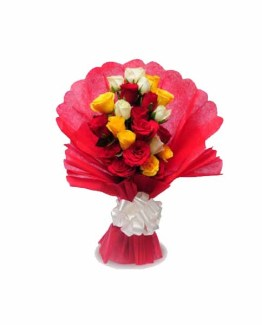 25 Mix Roses Special hand Bunch