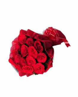 15 Red Roses Bunch with Special Paper packing