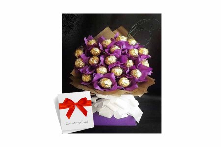 Chocolate Bouquet With Greeting Card