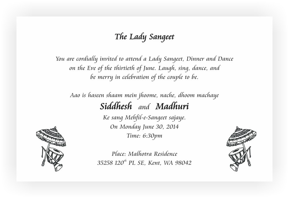 Special Wedding Invitation Wording