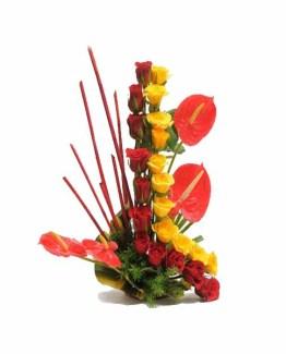 Roses + Anthurium Basket