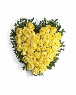 Yellow Roses Heart ARRANGEMENT