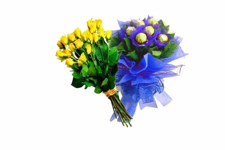 Yellow and Blue Gifts Combination