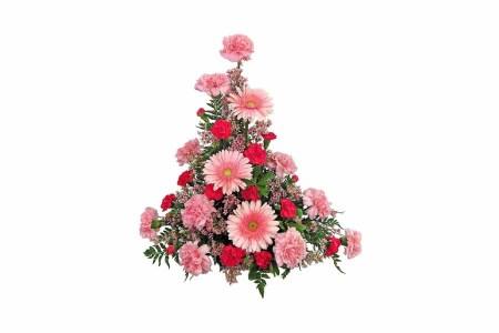 Red & Pink Mix Flowers Basket Arrangement (Gerberas & Carnation)