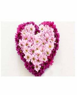 Gerberas Heart Shape Arrangement
