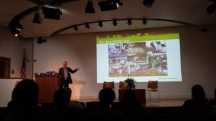 """Dr. Preston Maring from Kaiser Permanente gave us visual narratives of his culinary expertise and anecdotes of successes in bringing """"Produce to the People."""""""