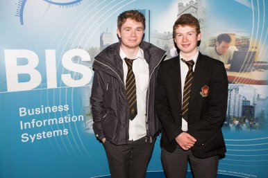 Students from Christian Brothers - James O'Riordan and Cillian O'Sullivan