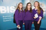 Students from Regina Mundi - Elena O'Driscoll, Emma Looney and Lucy Fitzgibbon