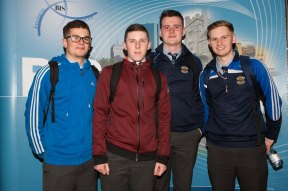 Gaelcholáiste Mhuire students - Conor Corrigan, Padraig Cotter, Luke Madden and Conor O'Brien