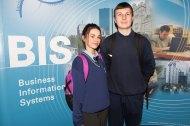 Sarah Drohan and Liam O'Sullivan from Gaelcholáiste Mhuire
