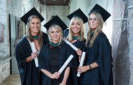 free pic no repro fee 18 oct 2016 Kate English Blackrock,Oonagh Healy Model Farm Road , Aoibheann Murphy Crosshaven and Rachel O'Hanlon Blackrock who graduated with a degree in Business Information Systems (BIS) from UCC on Tuesday, October 18th. Photography by Gerard McCarthy 087 8537228 more info contact Alison O'Brien Fuzion Communications 021 4271234 086 3879388