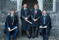 free pic no repro fee 18 oct 2016 Adam Nagle Douglas, Tom O'Hare Waterford, John Banden Midleton and Emmet O'Shaughnessy Montenotte who graduated with a degree in Business Information Systems (BIS) from UCC on Tuesday, October 18th. Photography by Gerard McCarthy 087 8537228 more info contact Alison O'Brien Fuzion Communications 021 4271234 086 3879388