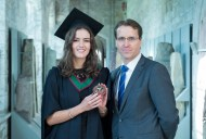 free pic no repro fee 18 oct 2016 David Merriman Bank of Ireland with Aisling Mooney from Tralee, Bank of Ireland Most Innovative Project Award who graduated with a degree in Business Information Systems (BIS) from UCC on Tuesday, October 18th. Photography by Gerard McCarthy 087 8537228 more info contact Alison O'Brien Fuzion Communications 021 4271234 086 3879388