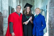 free pic no repro fee 18 oct 2016 Prof Ciaran Murphy Head of Cubs UCC ,Patricia Lunch BIS UCC , David Merriman Bank of Ireland with Aisling Mooney from Tralee, Bank of Ireland Most Innovative Project Award who graduated with a degree in Business Information Systems (BIS) from UCC on Tuesday, October 18th. Photography by Gerard McCarthy 087 8537228 more info contact Alison O'Brien Fuzion Communications 021 4271234 086 3879388