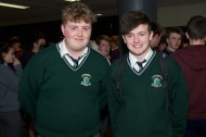 Andrew O'Callaghan and Joseph Murphy from Colaiste Chriost Ri.