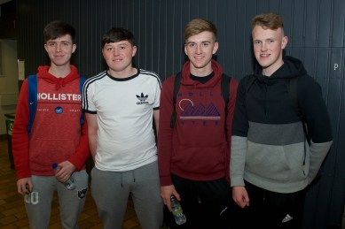 Craig Murphy, Alex Cummins, Greg Healy and Alex Riordan from Gael Colaiste Mhuire AG.