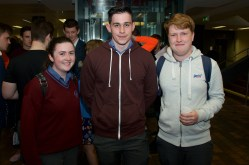 Lauren Quinn, James Roche and Conor Byrne Ryan from Carrigaline Community School.