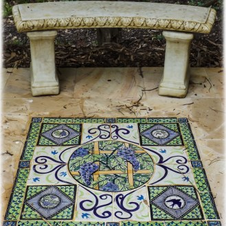 Wisteria Colonnade Mary-Lou Pittard Tiles