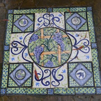 Tiles by Mary Lou Pittard in the Wisteria Colonnade