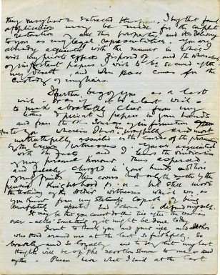 Page three of letter to George Gavan Duffy from Casement (UCDA P152/3)