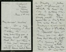 This is the last letter sent to Michael by his mother dated 3 June 1918, the day Michael died (UCDA P57/67)