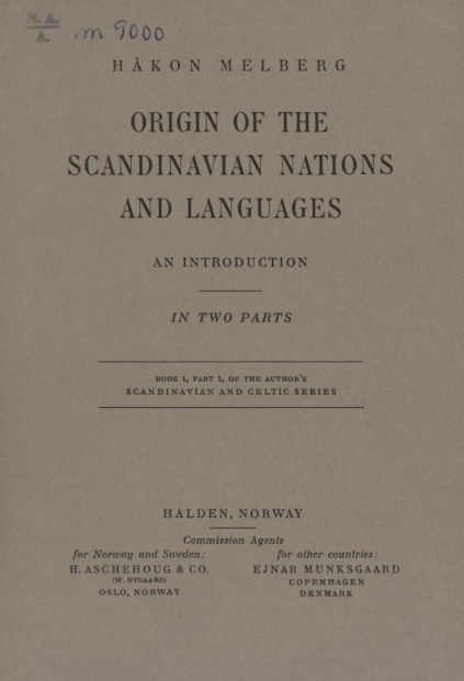 'Origin of the Scandinavian Nations and Languages'