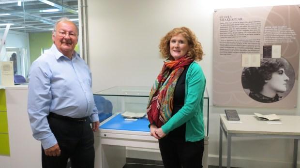 Dr Mark Rake and Evelyn Flanagan