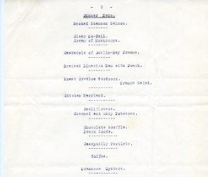 Shannon Airport menu from 1946, pg5 (UCDA LA27/758)