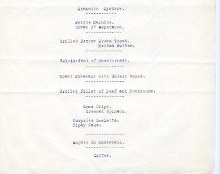 Shannon Airport menu from 1946, pg6 (UCDA LA27/758)