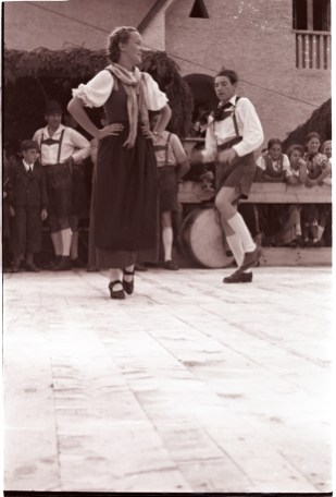Traditional dance, Austria 1939. Photographer Tomás Ó Muircheartaigh.