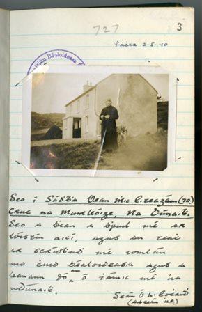 Seán Ó hEochaidh's photograph
