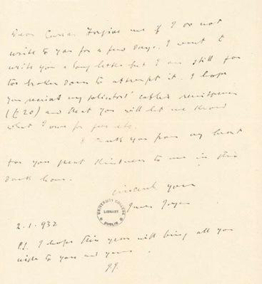 Joyce letter