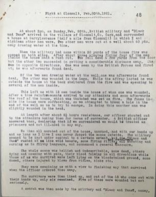 Fight at Clonmult, Co. Cork, 20 February 1921, p48 (UCDA P7/A/13)